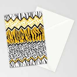 wild stripes pattern Stationery Cards