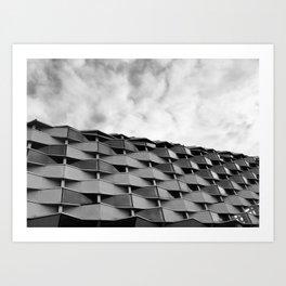 B/W Photography Zaragoza Architecture  Art Print