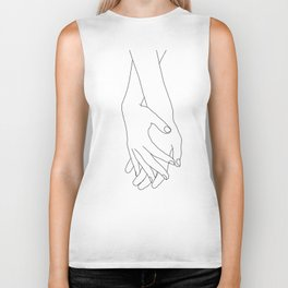 Holding hands illustration - Elana White Biker Tank