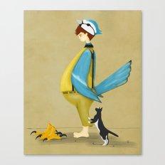 Blue Chickadee Canvas Print