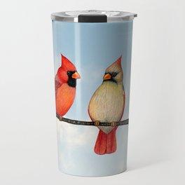 cardinal couple Travel Mug