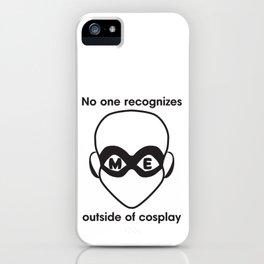 Recognize HERO-Black Print iPhone Case