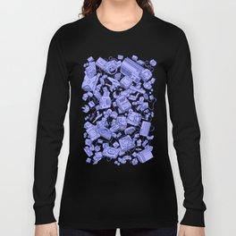 Retro Gamer - Blue Long Sleeve T-shirt