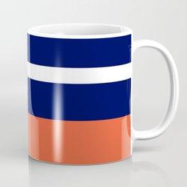 Summer Patio Perfect, Adobe Orange, White & Navy Coffee Mug
