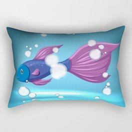 Bubble Fish Rectangular Pillow