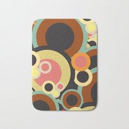 Retro circles pattern / Retro color pallete Bath Mat