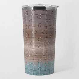 Jig-saw Puzzle Neutral Palette Design Travel Mug