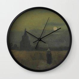 Vincent van Gogh - The Old Tower at Dusk Wall Clock