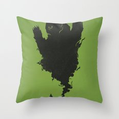 .. and There was Fire in its Eyes Throw Pillow