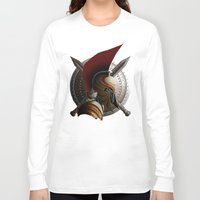 warrior Long Sleeve T-shirts featuring Warrior by Det Tidkun