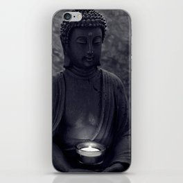 Buddha in the dark iPhone Skin