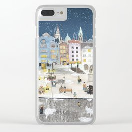 Bielsko Biala Street view Clear iPhone Case