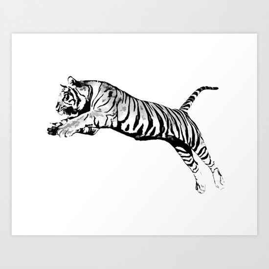 Flying Tiger Art Print
