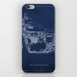 1969 triumph bonneville classic vintage motorcycle christmas gift iPhone Skin