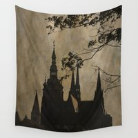 prague Wall Tapestries featuring Mysterious Prague by Maria Heyens