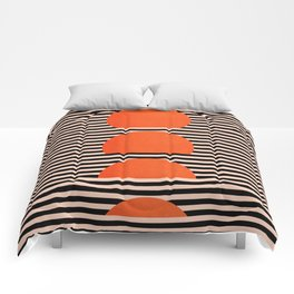 Abstraction_SUNSET_LINE_ART_Minimalism_001 Comforters
