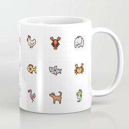Cute Animals Pattern! Perfect Educational Poster Gift for Kids, Toddlers, Children. Coffee Mug