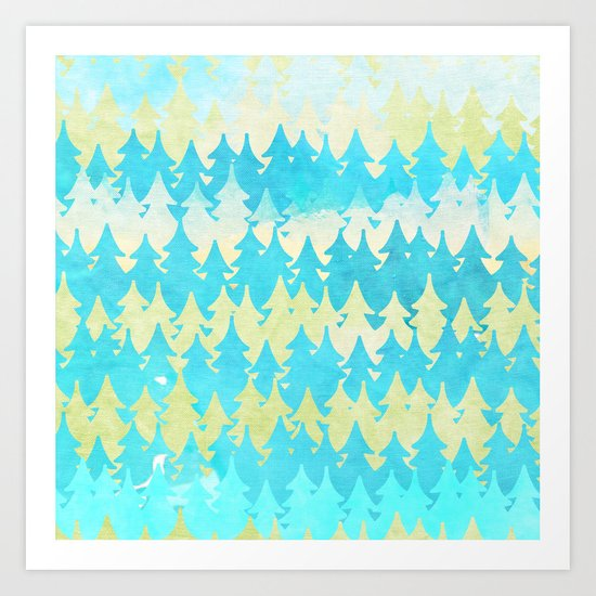 The secret forest -on a wonderful day - Abstract tree pattern Art Print