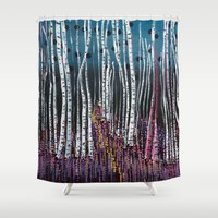 moss Shower Curtains featuring :: Pink Moss :: by :: GaleStorm Artworks ::