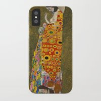 gustav klimt iPhone & iPod Cases featuring Gustav Klimt - Hope, II by TilenHrovatic