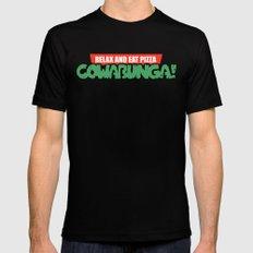 Cowabunga! Mens Fitted Tee Black LARGE