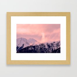 Kenai Mts Bathed in Serenity Rose - II Framed Art Print