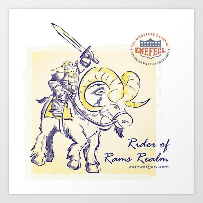 Rider of Rams Realm Art Print