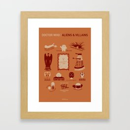 Doctor Who | Aliens & Villains (alternate version) Framed Art Print