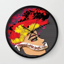 """Speak the Fuck Up"" Wall Clock"