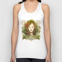 elf Tank Tops featuring Elf Nouveau by hkxdesign