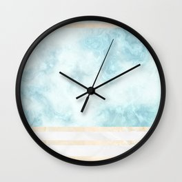 Pastel Marble Composition #5 Wall Clock
