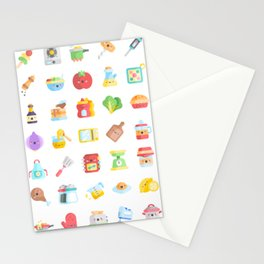 CUTE COOKING PATTERN Stationery Cards