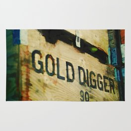 Gold digger Rug