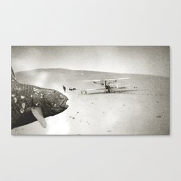 Coelacanth at the Wright Bothers' First Flight Canvas Print