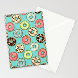 Donuts pattern Stationery Cards