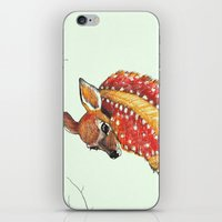 fawn iPhone & iPod Skins featuring fawn by maggie's forest