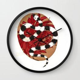floral kingsnake Wall Clock