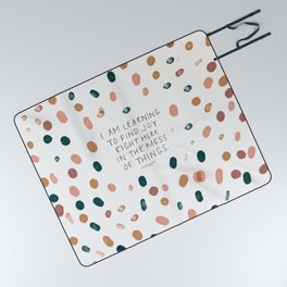 Joy in The Mess Of Things Picnic Blanket