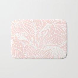 Pink Coral Floral Garden Bath Mat