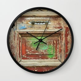 old painted door Wall Clock
