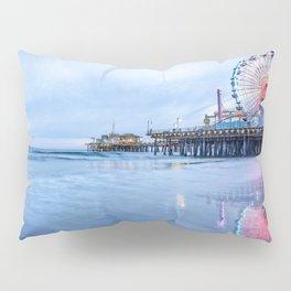 SANTA MONICA PIER SUNSET CALIFORNIA PHOTOGRAPHY Pillow Sham