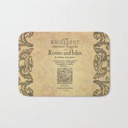 Shakespeare, Romeo and Juliet 1597 Bath Mat