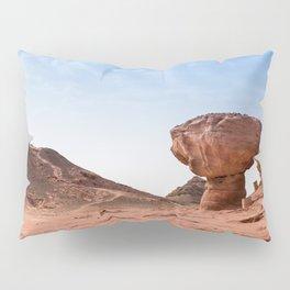 mushroom rock in timna park israel Pillow Sham