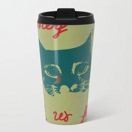 sadly cat Metal Travel Mug