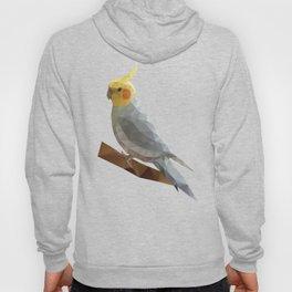 Yellow Cockatiel Bird Polygon Art Hoody