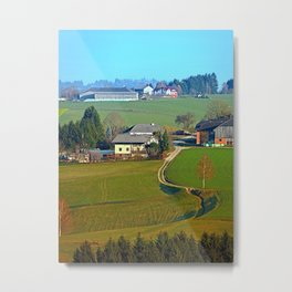 Beautiful traditional farmland scenery II | landscape photography Metal Print