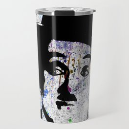 Charlie Chaplin-Watercolor Travel Mug