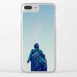 Mozart statue in Salzburg, Austria Clear iPhone Case