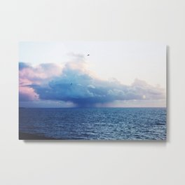 Candyfloss Clouds Metal Print