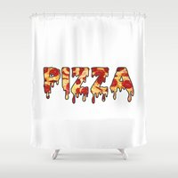 pizza Shower Curtains featuring Pizza... by radoverlays